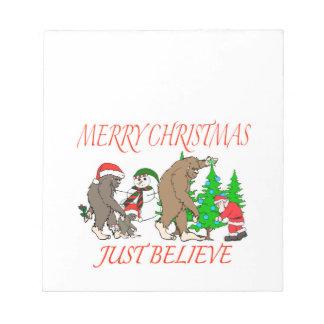 Bigfoot Family Christmas 2 Notepad