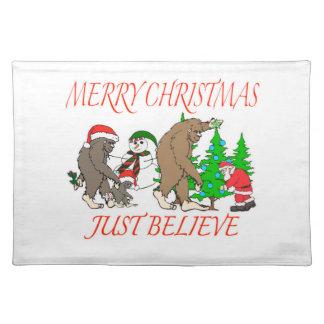 Bigfoot Family Christmas 2 Placemat