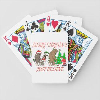 Bigfoot Family Christmas 2 Poker Deck