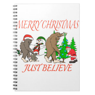 Bigfoot Family Christmas 2 Spiral Notebook