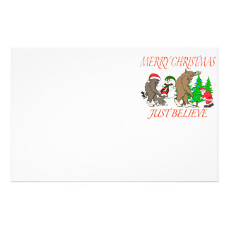 Bigfoot Family Christmas 2 Stationery