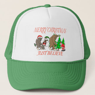 Bigfoot Family Christmas 2 Trucker Hat