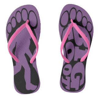 Bigfoot Foot Print Flip Flops by Mini Brothers