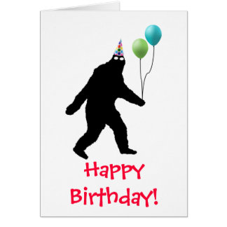 Bigfoot Happy Birthday! Card
