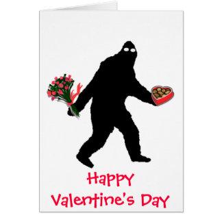Bigfoot Happy Valentine's Day Card