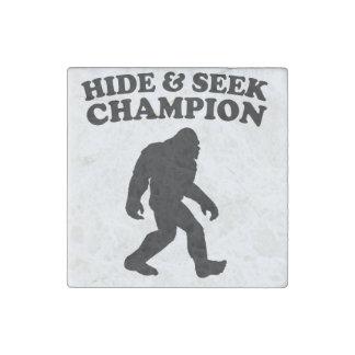 Bigfoot Hide And Seek Champion Stone Magnet