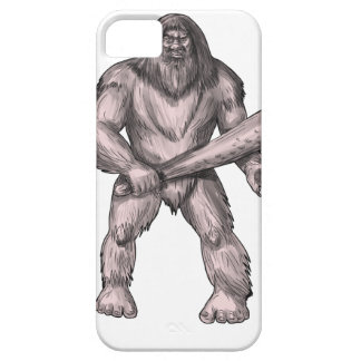 Bigfoot Holding Club Standing Tattoo Barely There iPhone 5 Case