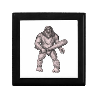 Bigfoot Holding Club Standing Tattoo Gift Box