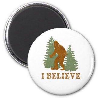 Bigfoot I believe 6 Cm Round Magnet