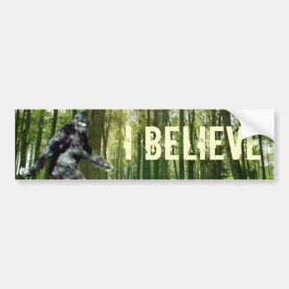Bigfoot I Believe Bumper Sticker