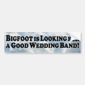 Bigfoot Looking for Good Wedding Band - Basic Bumper Sticker