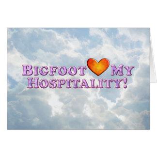 Bigfoot Loves My Hospitality - Basic Greeting Card