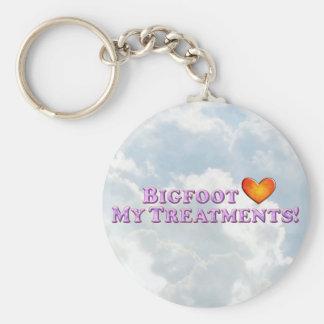Bigfoot Loves My Treatments - Basic Key Ring