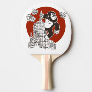Bigfoot on a skyscraper ping pong paddle