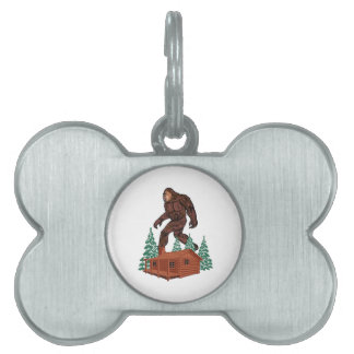 Bigfoot Paradise Pet ID Tag
