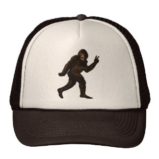 Bigfoot Peace Sign Trucker Hats
