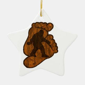 Bigfoot Prints Ceramic Ornament