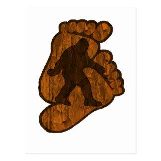 Bigfoot Prints Postcard