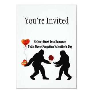 Bigfoot Remembers Valentine's Day 13 Cm X 18 Cm Invitation Card
