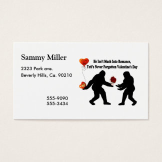 Bigfoot Remembers Valentine's Day Business Card