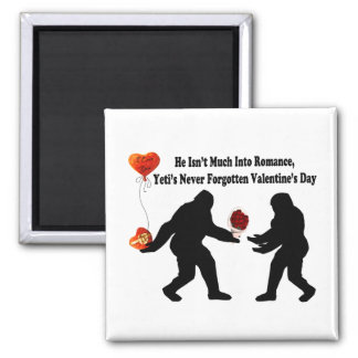 Bigfoot Remembers Valentine's Day Square Magnet