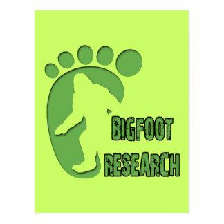 Bigfoot Research Postcard