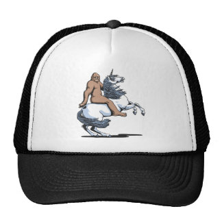 Bigfoot Riding a Unicorn Cap