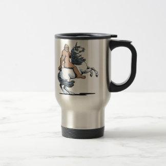 Bigfoot Riding a Unicorn Coffee Mug