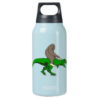 Bigfoot riding T Rex Insulated Water Bottle