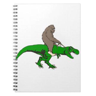 Bigfoot riding T Rex Notebooks