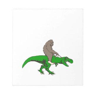 Bigfoot riding T Rex Notepad
