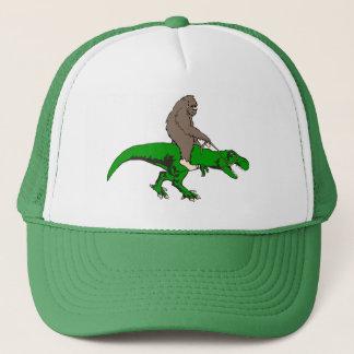 Bigfoot riding T Rex Trucker Hat