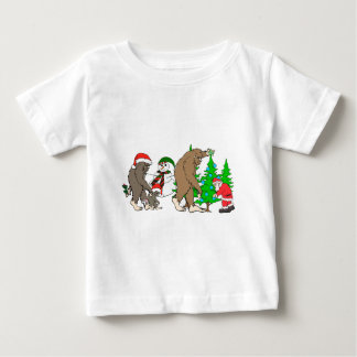Bigfoot Santa snowman Baby T-Shirt