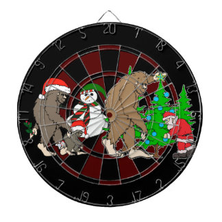 Bigfoot Santa snowman Dartboard