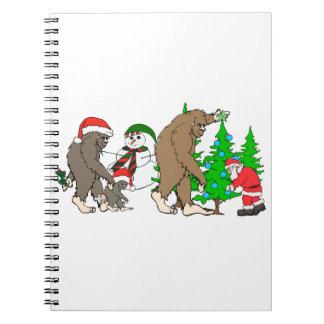 Bigfoot Santa snowman Notebook
