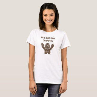 Bigfoot Sasquatch Hide and Seek Champion T-Shirt