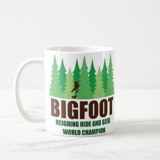Bigfoot Sasquatch Hide and Seek World Champion Basic White Mug