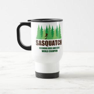 Bigfoot Sasquatch Hide and Seek World Champion Travel Mug