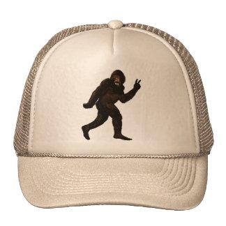 Bigfoot Sasquatch Peace Cap