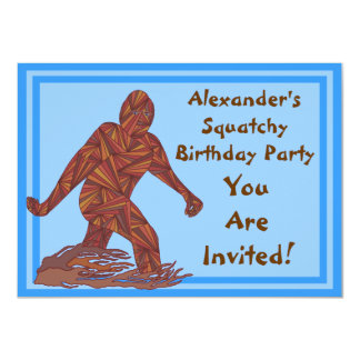 Bigfoot Sasquatch Yeti Cryptid Squatchy Birthday 11 Cm X 16 Cm Invitation Card