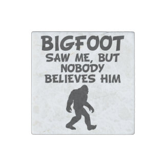 Bigfoot Saw Me Stone Magnet