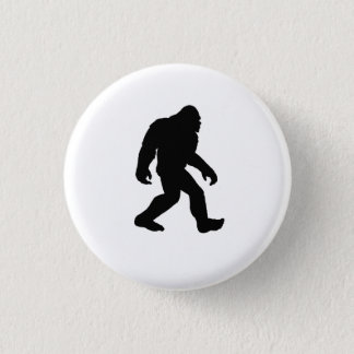 Bigfoot Silhouette 3 Cm Round Badge
