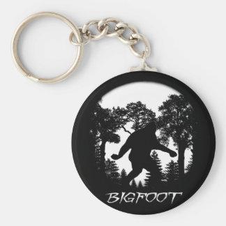 Bigfoot Silhouette Key Ring