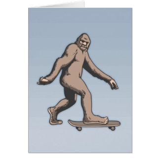 Bigfoot Skateboard Card
