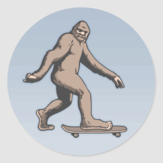 Bigfoot Skateboard Classic Round Sticker