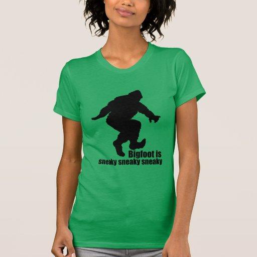 Bigfoot sneaky sneaky tshirt