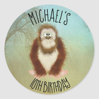 Bigfoot/Squatch Birthday Classic Round Sticker