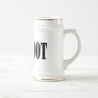 Bigfoot text & green squatch graphic mugs