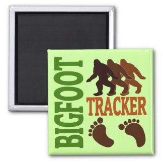 Bigfoot Tracker Square Magnet
