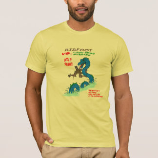 Bigfoot VS. Loch Ness Monster T-Shirt